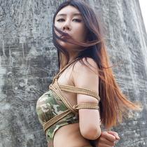 No.00704 Hijack Female Soldier II #4 野外で女戦士は縛られた、彼女にとってそのくらいの緊縛調教は大丈夫かな?股縄も耐えられるのか?