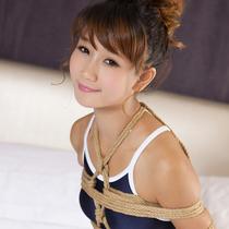 No.00600 Shine Girl #2 可愛いスクール水着女子校生が縛られて縛り写真をとた。その亀甲縛りと後高手小手縛りはいいなぁ。