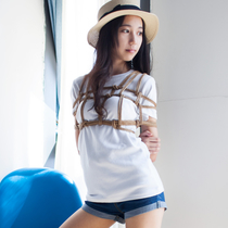 No.00598 Ready For Trip #1 この特別な乳房縛りはとても美しい、私服の美少女着衣緊縛画像には似合うと思うです。