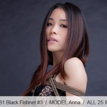 No.00381 Black Fishnet #3 この全身パンスト(網タイツ)着ている女はセクシーですね、食い込む股縄、彼女は緊縛を期待する。