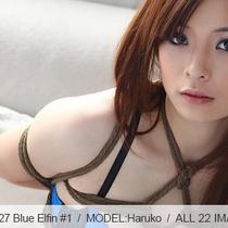 No.00527 Blue Elfin #1 綺麗な少女が青い下着着ている、こんどの緊縛式は亀甲縛り。
