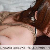 No.00589 Amazing Summer #3 tyingart dimdimの緊縛画像です、前回のつつけ、逆さ海老縛り。