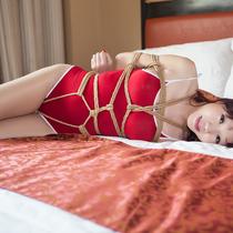 No.00692 Red Hair #3 大きなおっぱいパラススクール水着 、そして乳房縛りプラス逆さ海老縛り、いい緊縛画像ですね~