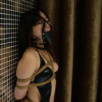 No.00770 Hardcore Gag  #2 彼女は猿轡がすきだ、だから今回はパンストを着た彼女がいっぱい満足した、そして食い込む股縄を追加しました。緊縛画像。