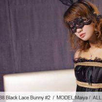 No.00288 Black Lace Bunny #2 [27Pics] レースで彼女の目を覆います、静かに束縛の感じを体験します.