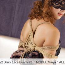 No.00322 Black Lace Bunny #3 [27Pics] 厳しい后高手緊縛、レースのゴーグルはかすみ。