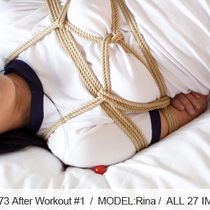 No.00373 After Workout #1 [27Pics] 後高手小手縛りかわいい体操服の黑发美少女、肌色のパンストカバコ、パンストとソックスはええよ