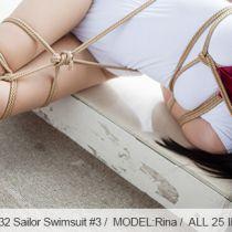 No.00532 Sailor Swimsuit #3 [25Pics] リナさんのスクール水着緊縛姿はとても可愛いです、でも後高手小手縛りは足りないので、もっ