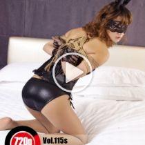 Vol.115s Black Lace Bunny 黒いレースウサギちゃん(バニーちゃん)はベッドの上で緊縛を楽しんでいる。